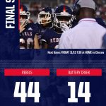 Rebels win 44-14 over Battery Creek in Round 1 of AAA Playoffs