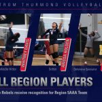 Rebel Volleyball Players Earn Honors