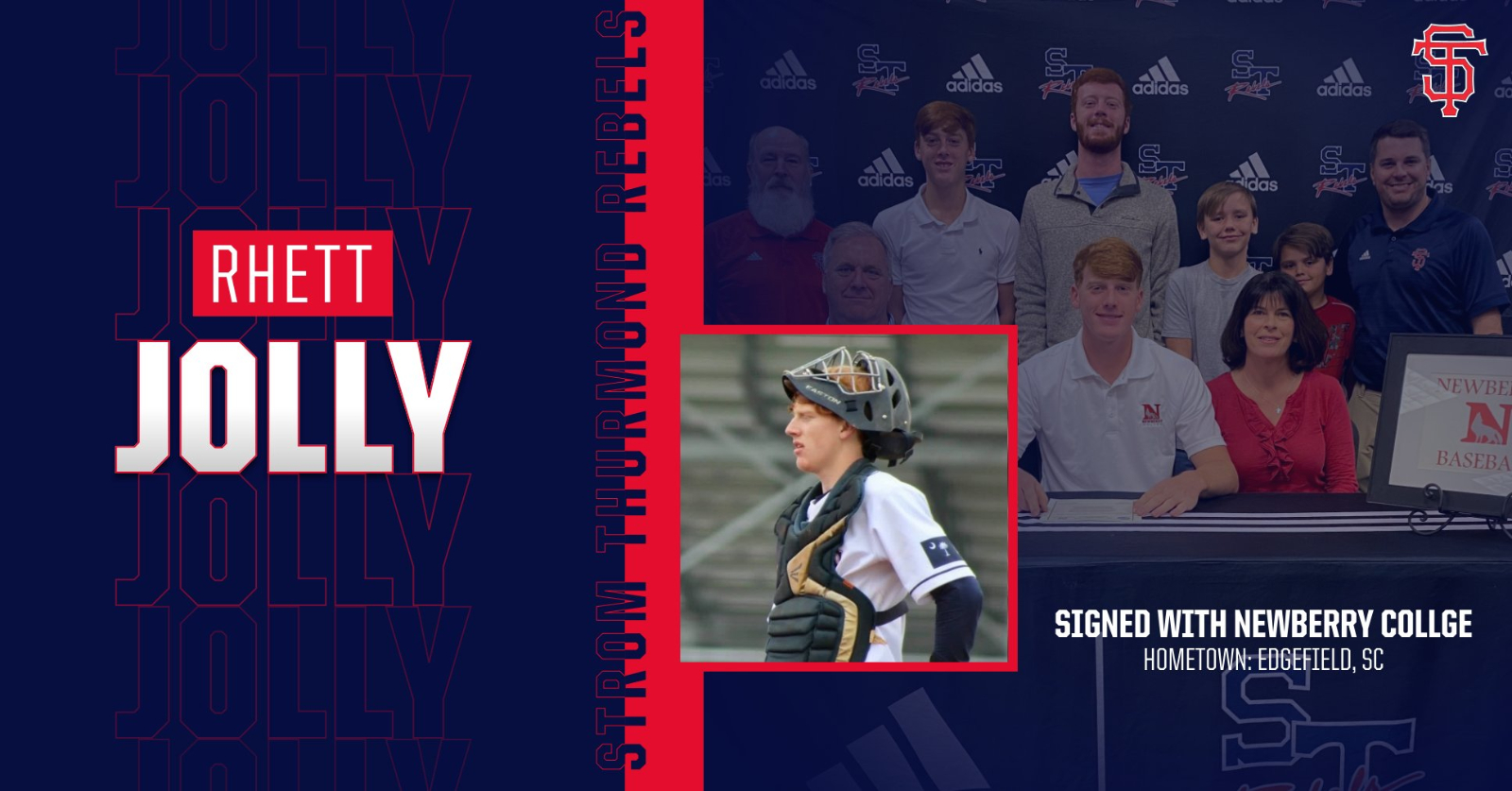 Jolly Signs with Newberry College