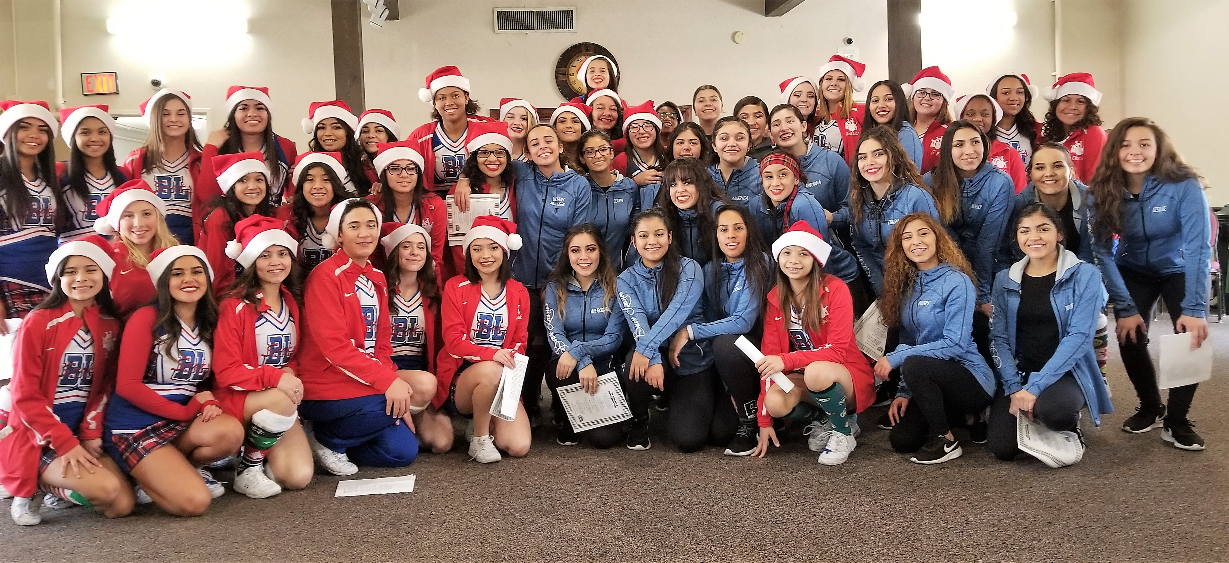 Cheerleaders and Bonnie Lassies Spread Holiday Cheer
