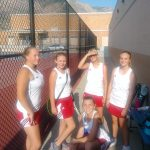 Lady Scots tennis team beat the Roy Royals 5 to 0
