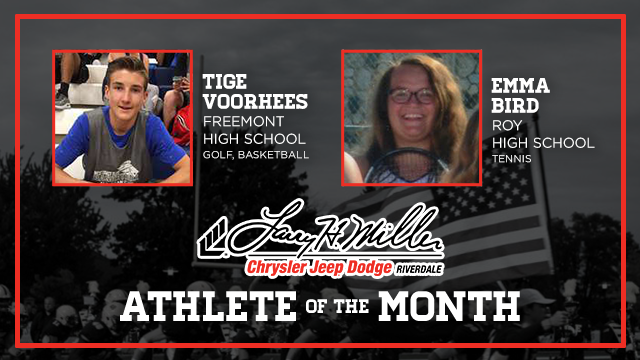 And the Larry H. Miller in Riverdale October Athlete of the Month is….