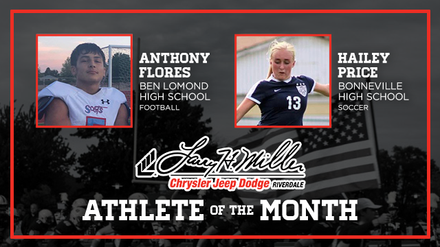 And the Larry H. Miller in Riverdale November Athlete of the Month is….