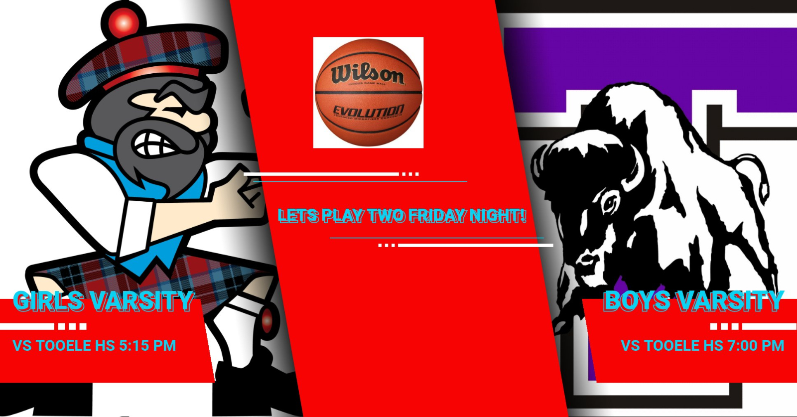 Come out and watch our basketball teams tomorrow night!