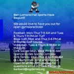 Fall Sports have begun!