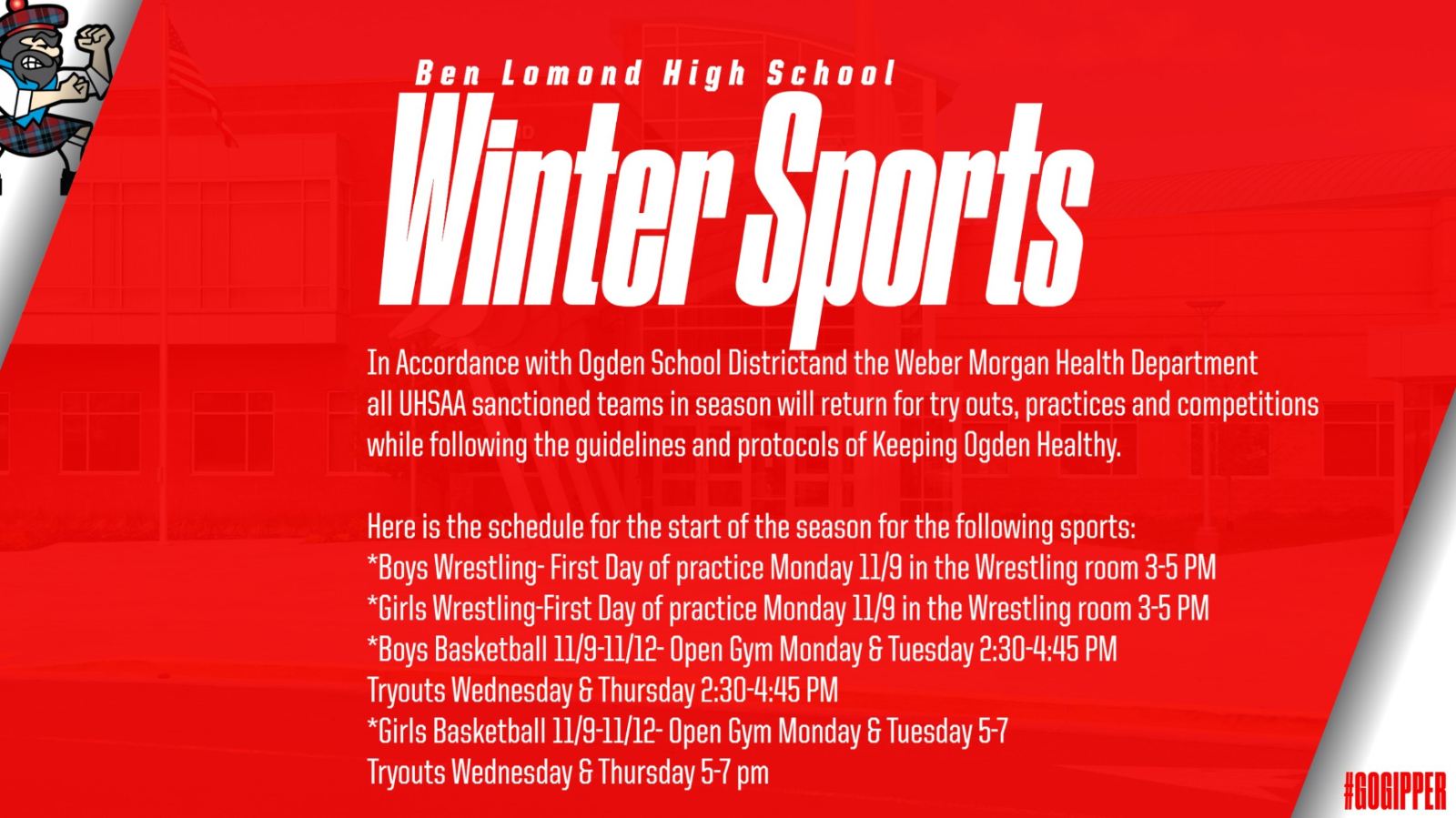 Winter Sports Announcement
