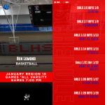 Region 10 Basketball January Schedule
