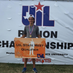 Huntsville's Cross Country runner, Evan del Rio