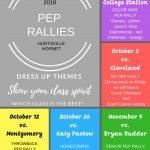 SHOW YOUR CLASS SPIRIT – 2018 PEP RALLIES