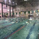 Coed Varsity Swim Team falls the Brenham this afternoon.