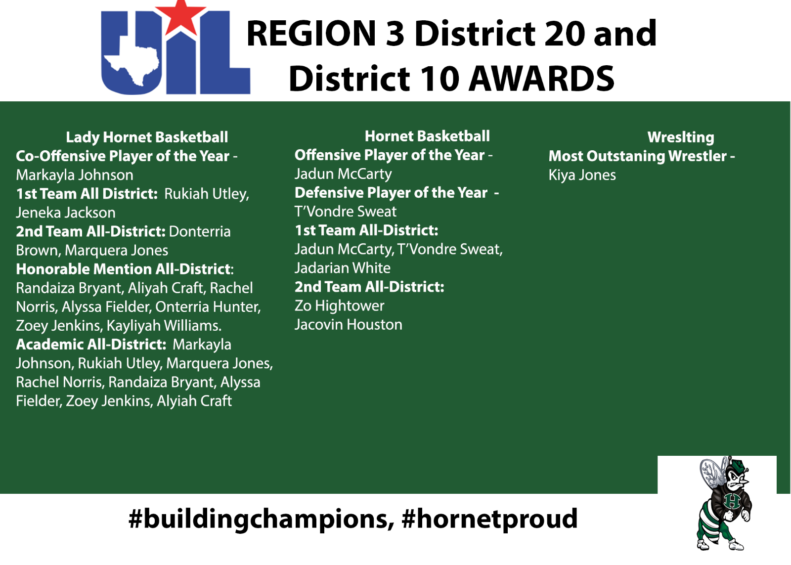 UIL District Awards Shout-Out!