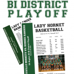 Lady Hornet Basketball Bi-District Game Info