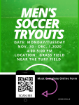 Men's Soccer Tryouts – Complete the Link