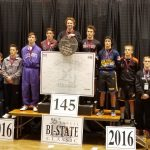 Verona Area High School Boys Varsity Wrestling finishes 19th place