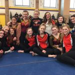 Verona Area High School Girls Varsity Gymnastics finishes 2nd place