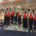 Verona Area High School Girls Varsity Gymnastics finishes 1st place