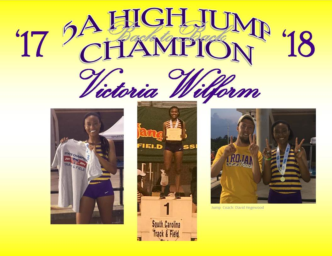 VICTORIA WILFORM WINS STATE TITLE IN HIGH JUMP