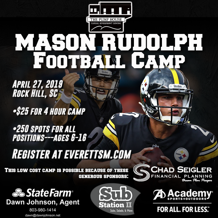 NHS Alumni & current Pittsburg Steelers QB Mason Rudolph camp 4/27