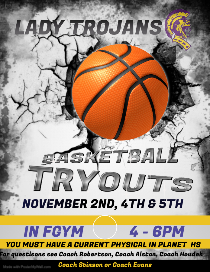 GIRLS BASKETBALL TRYOUT DATES