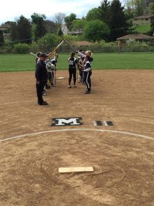 Varsity Softball Senior Recognition Day 5/5/2016: Shelby Minardi and Hanna Leach