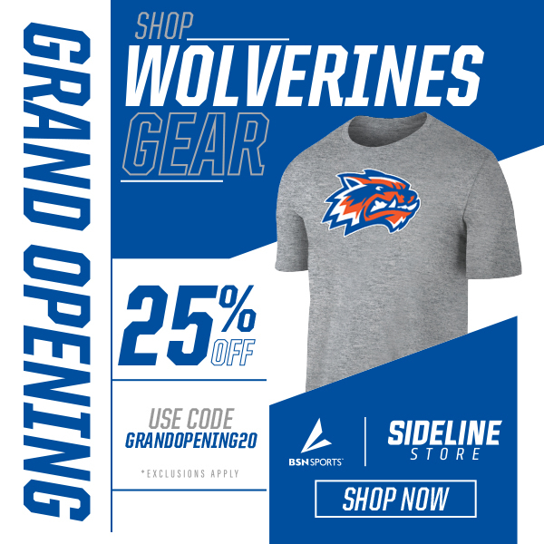 25% off entire purchase on our WM sideline store