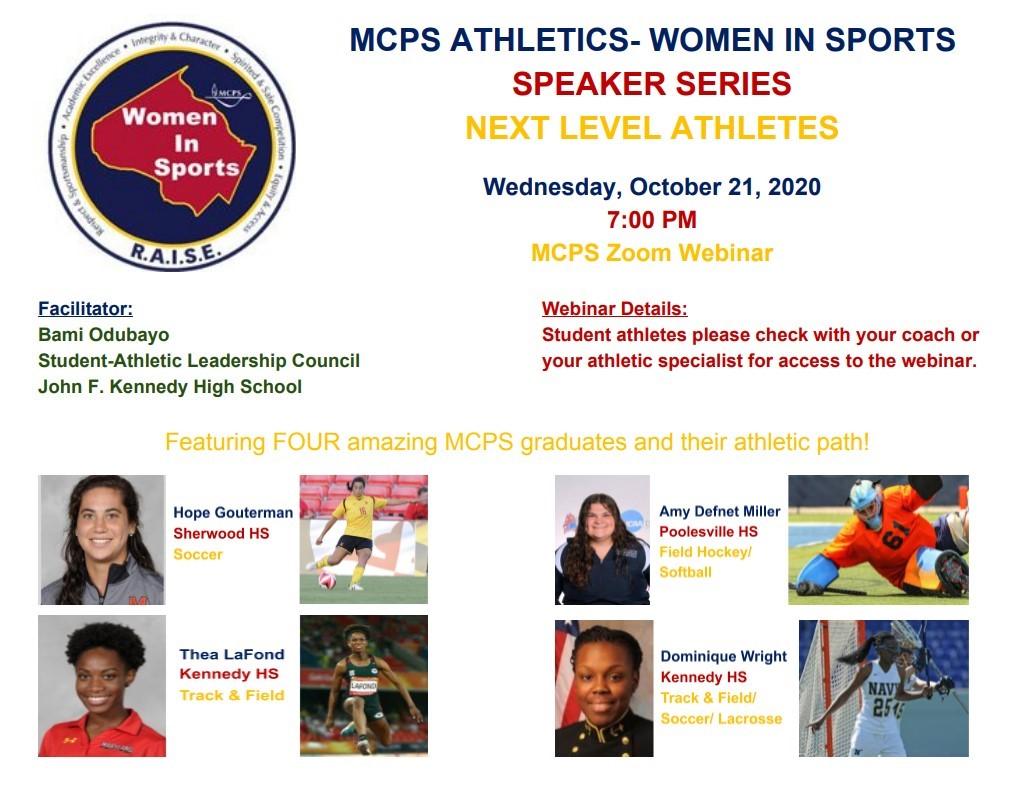 MCPS Athletics presents: Women in Sports Speaker Series