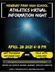 Athletics Virtual information Night