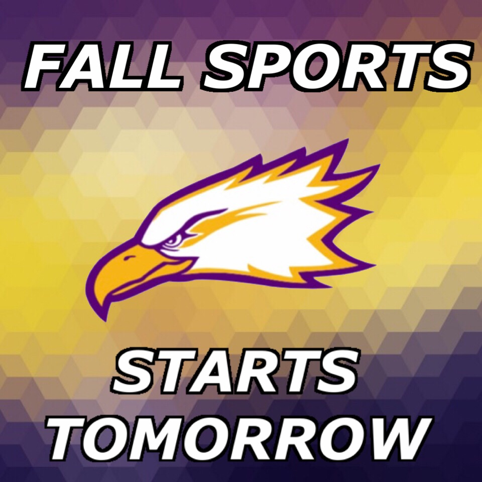 Fall Sports Start Wednesday 8/8