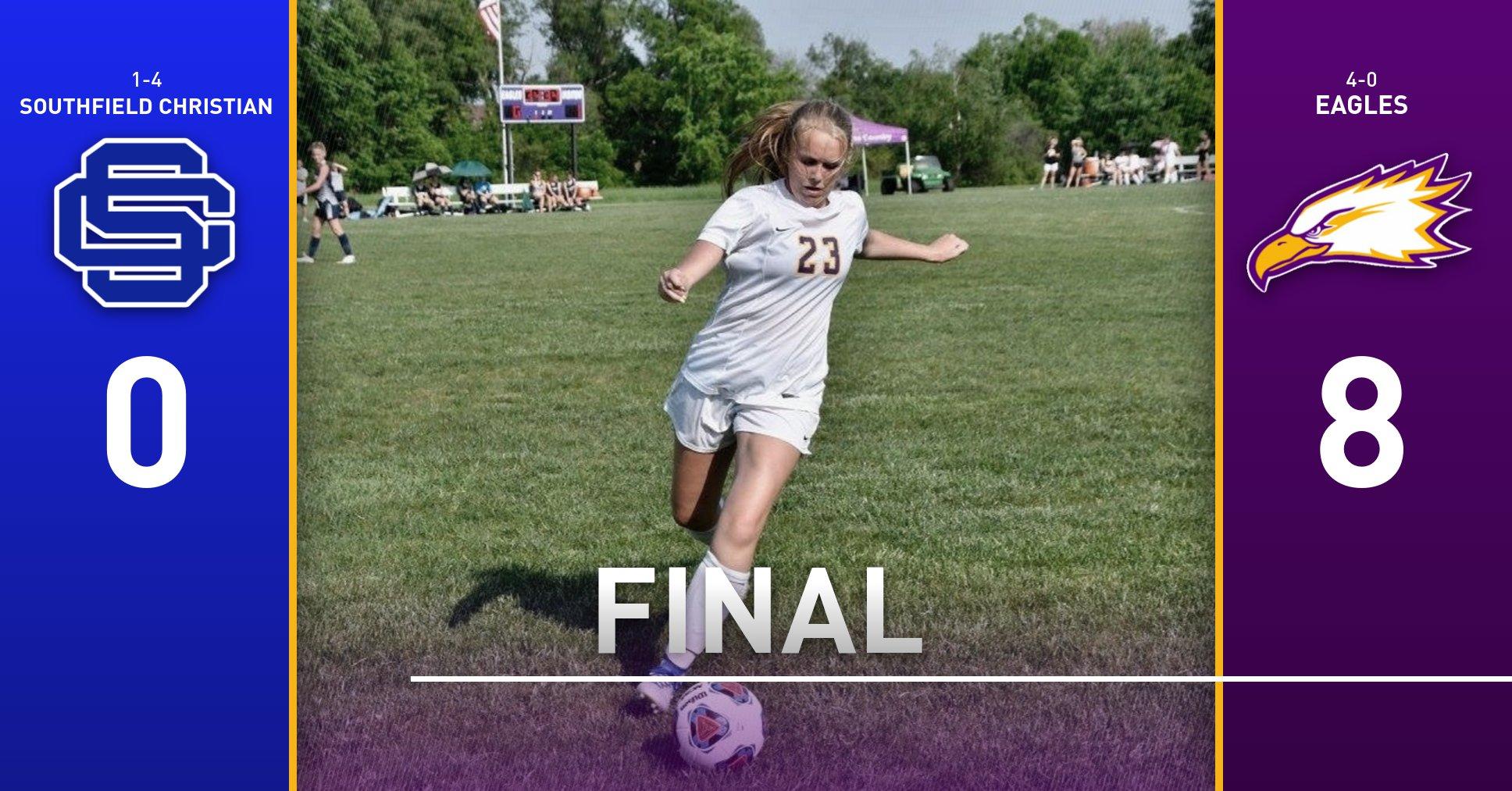 Girls Varsity Soccer beats Southfield Christian School 8 – 0