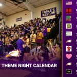 """Athletic Department Launches Eagle's Nest """"Theme Night"""" Calendar"""