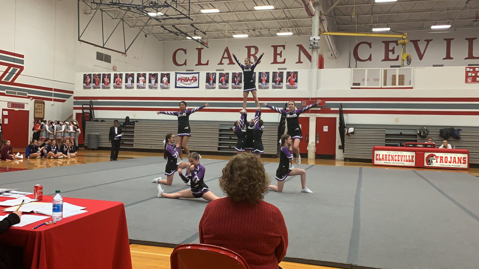 Competitive Cheer Places 2nd in MIAC Meet #1