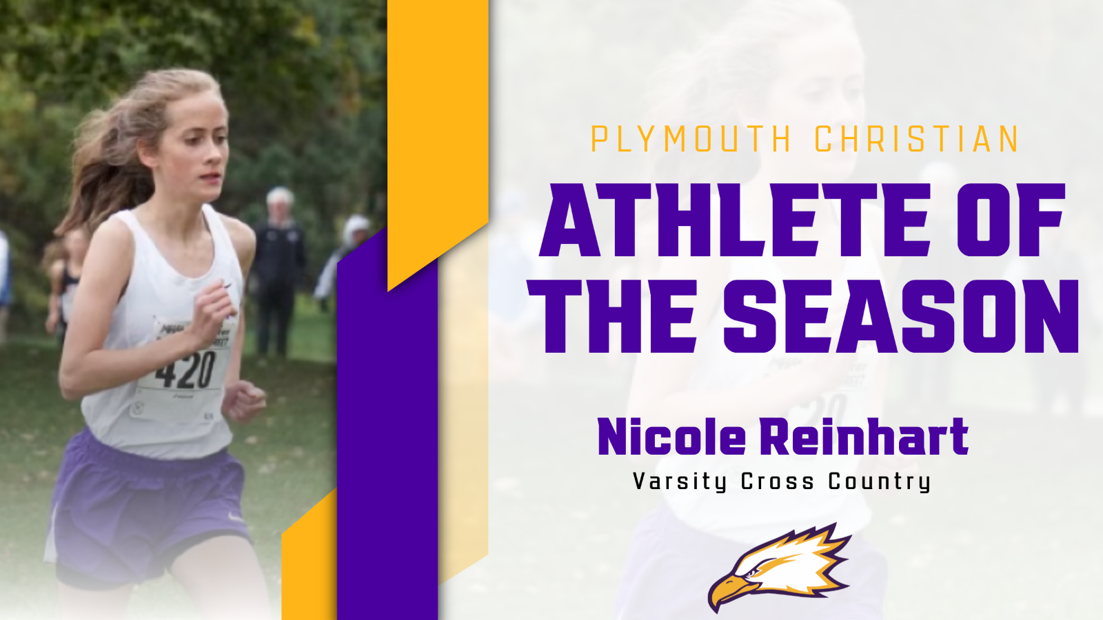 Nicole Reinhart Wins Fall Athlete of the Season