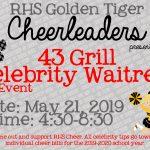 Cheerleaders' Celebrity Waitress Fundraiser