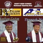 Derrick Wells and Charlvon Gaston Signing Day