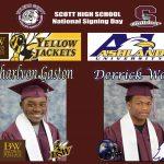 Derrick Wells and Charlvon Gaston Signing Day