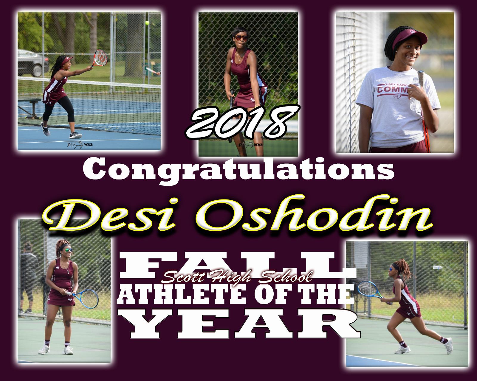 Desi Oshodin – Fall Athlete of the Year 2018