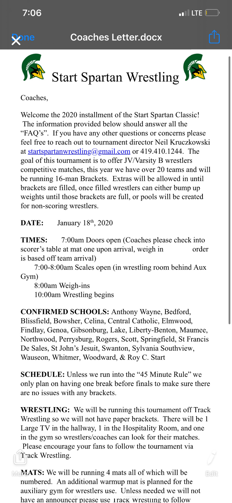 Scott Wrestling team will Head to Start high school Invitational this Saturday @ 10am!