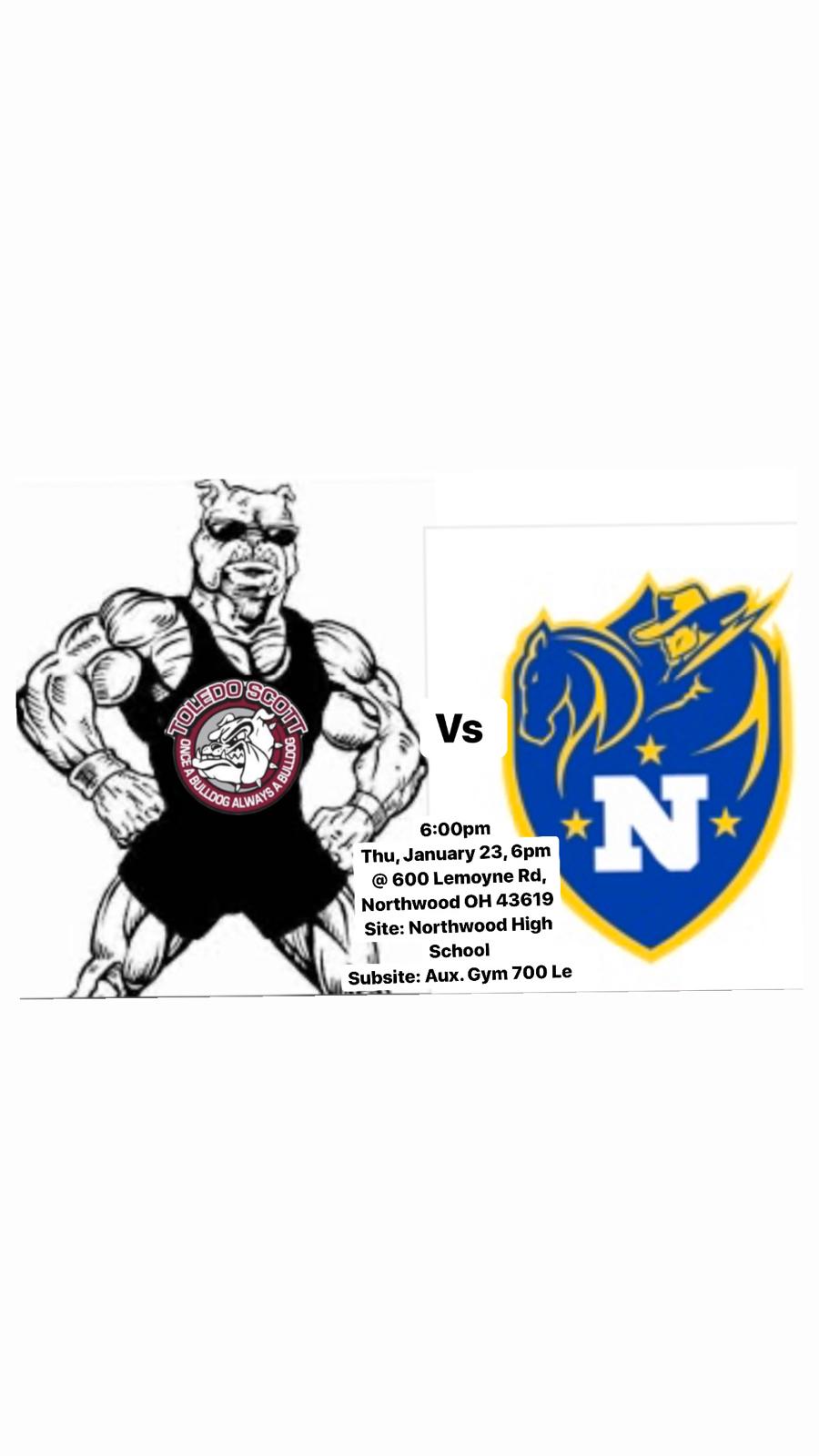 Scott, Bowsher, and Northwood (Tri wrestling match 6-8pm)
