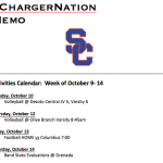 Schedule 10/10 – 10/14