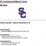 Schedule 11/6 – 11/11