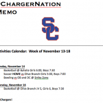 Schedule 11/13 – 11/17