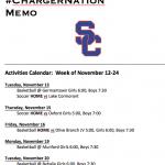 Schedule 11/12 – 11/24