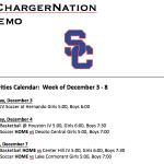 Schedule 12/3 – 12/8