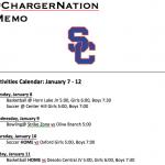 Schedule 1/7 – 1/11