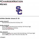 Schedule 1/22 – 1/25