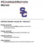 Schedule 1/29 – 2/2