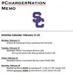 Schedule 2/11 – 2/16