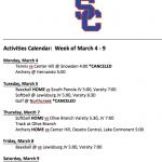 Schedule 3/4 – 3/9
