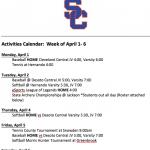Schedule 4/1 – 4/6