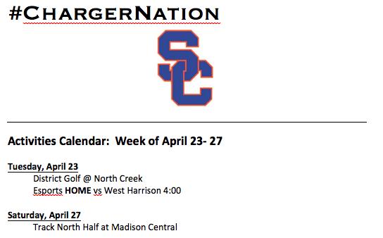 Schedule 4/23 – 4/27